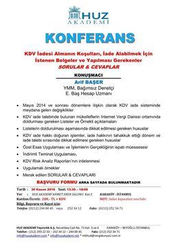 Resim Konferans: KDV İadesi Almanın Koşulları