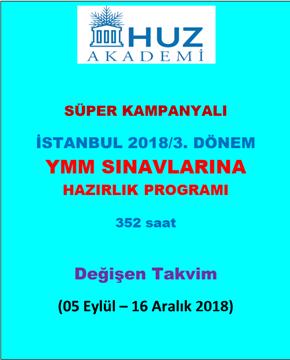 Resim İstanbul 2018/3. Dönem YMM Sınavlarına Hazırlık Programı
