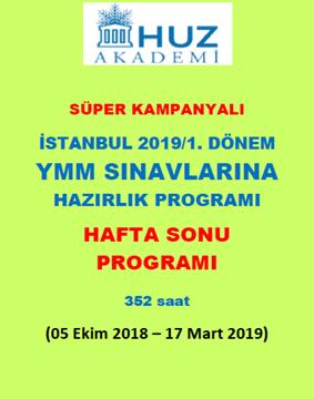 Resim İstanbul 2019/1. Dönem YMM Sınavlarına Hazırlık Programı (H.S.)