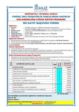 Resim YMM Sınavlarına Hazırlık>>YMM-İstanbul-2020/2-HIZLANDIRILMIŞ YOĞUN PROGRAM